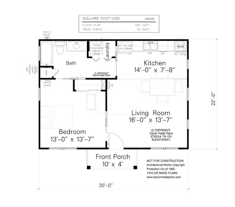 Accessory dwelling unit floor plans floors doors for Accessory dwelling unit floor plans